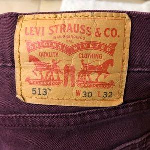 Levi's maroon 30x30 denim jeans